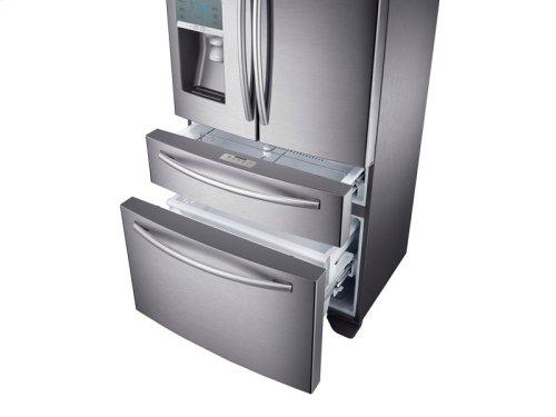 23 cu. ft. Counter Depth 4-Door Refrigerator with FlexZone Drawer