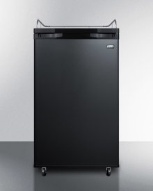 Freestanding Residential Beer Dispenser, Auto Defrost In Black Finish; No Tapping Equipment Included