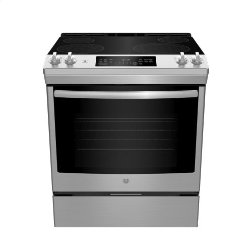 Slide In Front Control Electric 5.3 cu ft Self-Cleaning Range