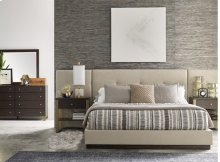 Upholstered Wall Bed with Panels