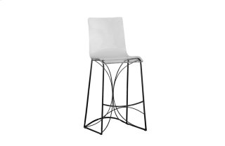 "Angela 30.25"" Bar Height Stool - Black"