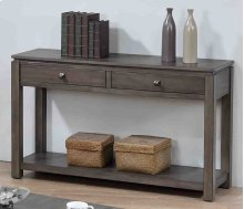 Shades of Gray Sofa Console with Drawers and Shelf
