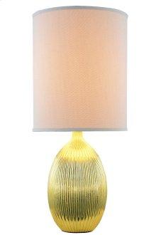 1 Light Table Lamp with Metal Resin Body & Golden(EL-1005) & Gold Leaf(EL-5015) Finish