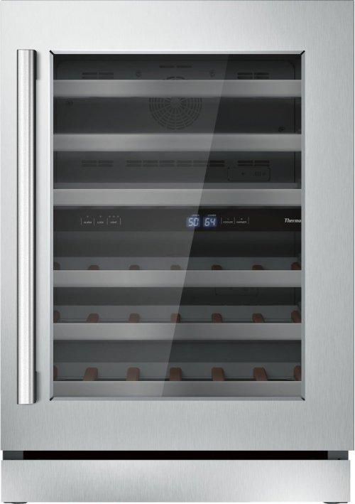 24 3/16'' Glass Door Wine Reserve Right Hinge Masterpiece Handle T24UW810RS