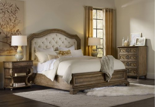 Solana King Upholstered Panel Bed