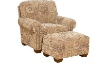 Candice Fabric Chair, Candice Ottoman