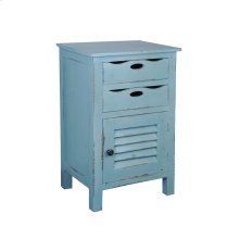 CC-CHE512LD-BB  Cottage Beach Blue Accent Table