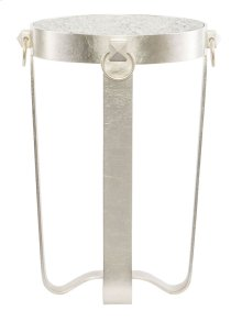 Portia Metal Round Chairside Table