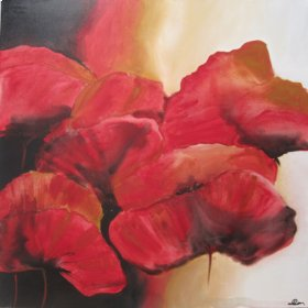 Art: Red Pansies