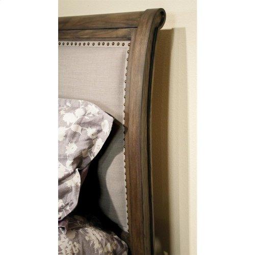 Belmeade - King/california King Sleigh Upholstered Headboard - Old World Oak Finish