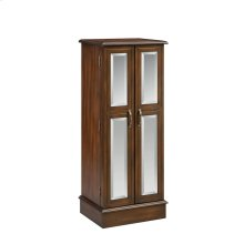 Ellis Mirrored Jewelry Armoire In Chestnut