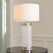 Chiseled Glass Lamp-Nickel