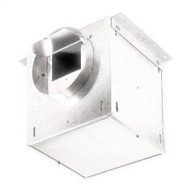 "Ventilator; 245 CFM Straight Through, 2.3 Sones; 238 CFM Right Angle, 1.7 Sones. 8"" rd. duct connectors. 120V"