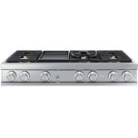 """Dacor48"""" Rangetop, Silver Stainless Steel, Natural Gas"""