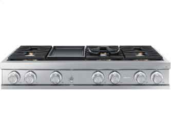 "48"" Rangetop, Silver Stainless Steel, Natural Gas"