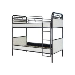 3021 Wesson White Twin/Twin Bunk Bed with Guard Rails and Ladder