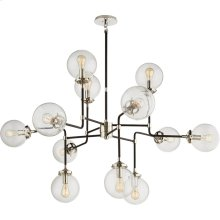 Visual Comfort S5022PN-CG Ian K. Fowler Bistro 12 Light 47 inch Polished Nickel Chandelier Ceiling Light in Clear Glass