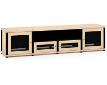 Synergy Solution 245, Quad-Width AV Cabinet, Maple with Black Posts
