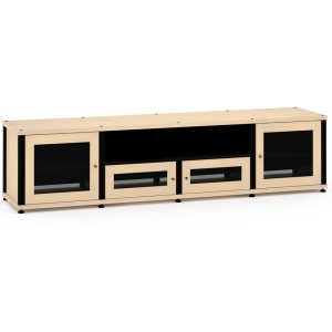 Salamander DesignsSynergy Solution 245, Quad-Width AV Cabinet, Maple with Black Posts