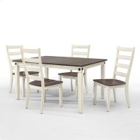Dining - Glennwood Dining Table  White & Charcoal Product Image