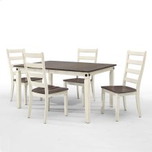 Dining - Glennwood Dining Table  White & Charcoal