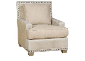 Savannah Leather Fabric Chair, Savannah Ottoman