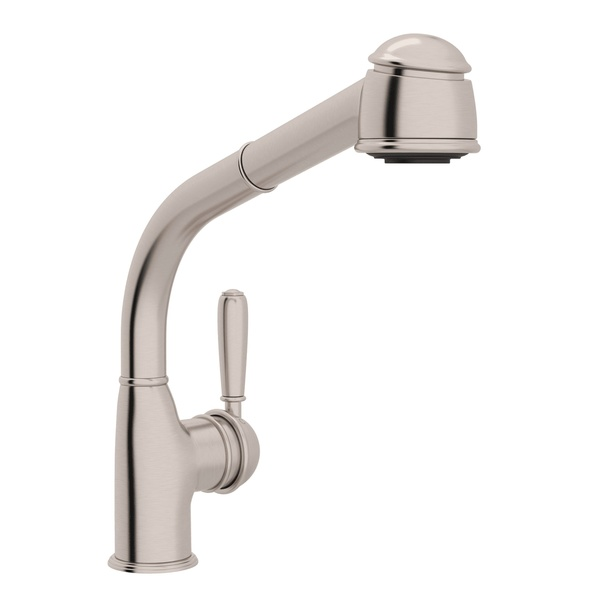 Satin Nickel 1983 Side Lever Pull-Out Kitchen Faucet with 1983 Metal Lever