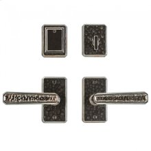 """Hammered Entry Set - 2 1/2 x 4 1/2"""" Silicon Bronze Brushed"""