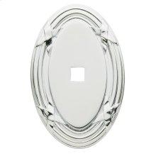 Polished Chrome Oval Edinburgh Back Plate