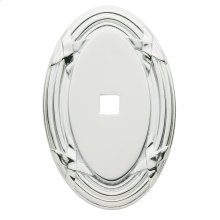 Polished Chrome Oval Edinburgh Back Plate