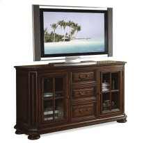 Cantata 60-Inch High Waist TV Console Burnished Cherry finish