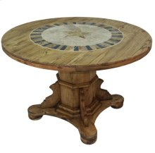 """48"""" Round Ped Table W/Stone and Star"""