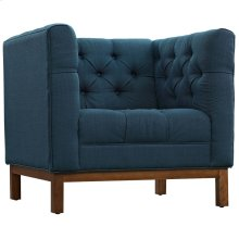 Panache Upholstered Fabric Armchair in Azure