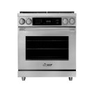 "30"" Heritage Dual Fuel Pro Range, Silver Stainless Steel, Natural Gas Product Image"