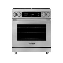 "30"" Heritage Dual Fuel Pro Range, Silver Stainless Steel, Natural Gas"