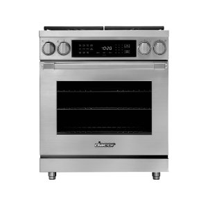 "Dacor30"" Heritage Dual Fuel Pro Range, Silver Stainless Steel, Liquid Propane/High Altitude"