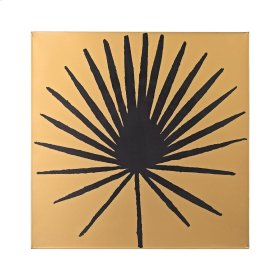 Palm Frond on Metallic Gold Wood