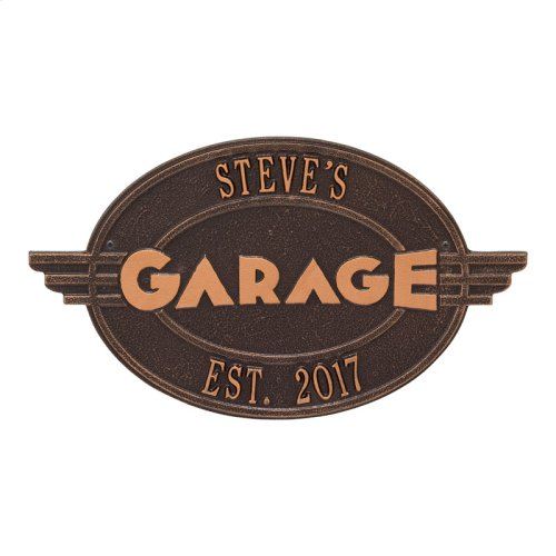 Moderno Garage Personalized Plaque - Antique Copper