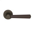 Tube Stitch Incombination Leather Door Lever In Chocolate And Vintange Patina Product Image