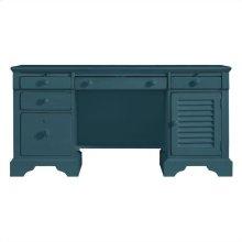 Retreat - Computer File Desk In English Blue