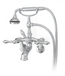 All Metal Tub Faucet with Lever Handles Tub or Wall Mount