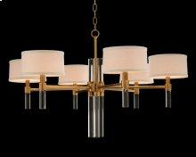 Glass Rod Six-Light Chandelier