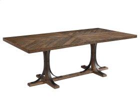 Shop Floor Iron Trestle Dining Table