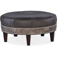 Bradington Young Well-Rounded Round Ottoman 804-RD Product Image