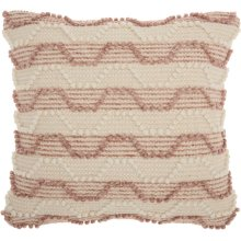 "Life Styles Dc430 Blush 20"" X 20"" Throw Pillows"