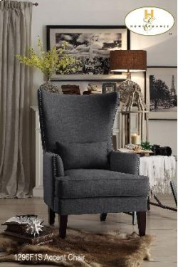 Accent Chair with Kidney Pillow