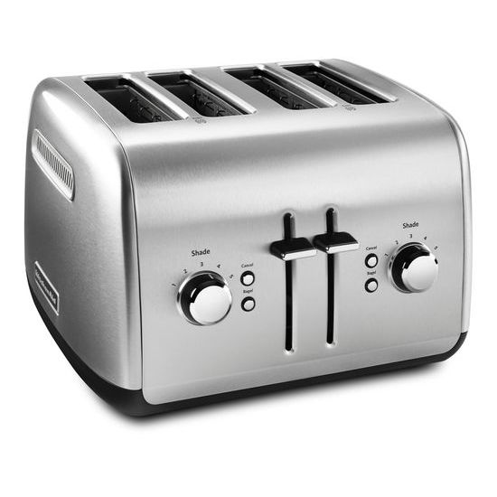 KitchenAid(R) 4-Slice Toaster with Manual High-Lift Lever - Brushed Stainless Steel  BRUSHED STAINLESS STEEL