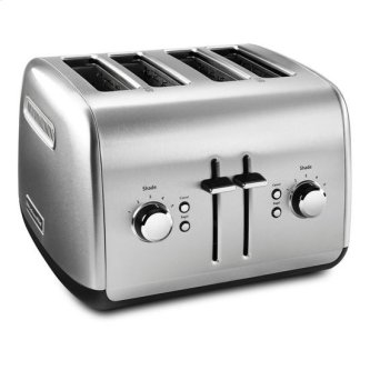 KitchenAid(R) 4-Slice Toaster with Manual High-Lift Lever - Brushed Stainless Steel