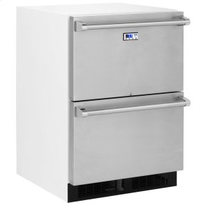 Marvel24-In General Purpose Refrigerated Drawers with Door Style - Stainless Steel
