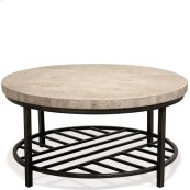 Capri - Round Coffee Table - Alabaster Travertine Finish